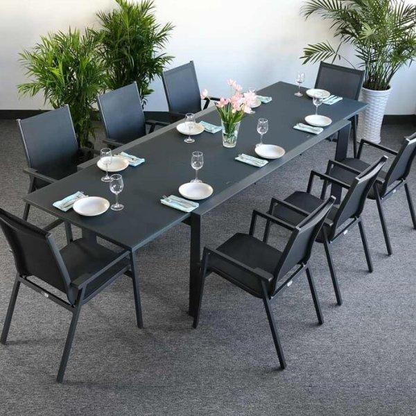 Table VIOLET - Gris (ensemble 8 personnes)
