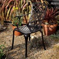 EMMA chaise de jardin en aluminium