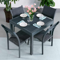 Ruby Table - Grey (4 seater set)