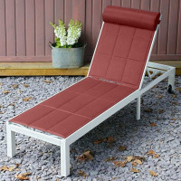 Chaise longue MICHELLE - Blanc & Terre Cuite
