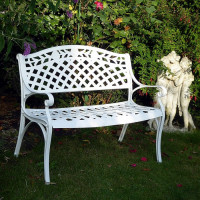 Rose Bench - White
