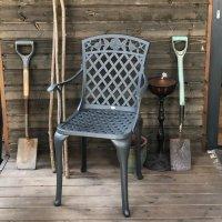 ROSE chaise de jardin en aluminium - Coloris Ardoise