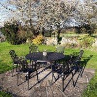Table FRANCES - Bronze Ancien (ensemble 6 personnes)