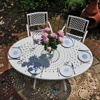 Table CHARLOTTE - Blanc (ensemble 6 personnes)