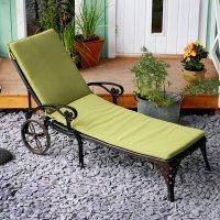 Coussin de chaise longue LATTICE - Vert