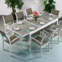 Table FLORENCE - Blanc & Champagne (ensemble 8 personnes)