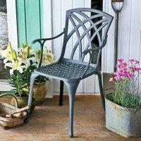 APRIL chaise de jardin en aluminium - Coloris Ardoise