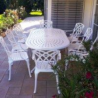 Table CATHERINE - Blanc (ensemble 8 personnes)