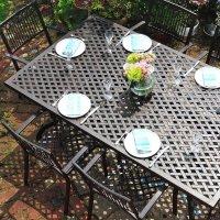 Table SOPHIA - Bronze Ancien (ensemble 6 personnes)