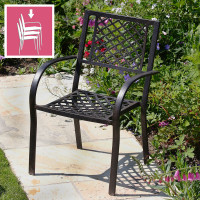 JANE chaise de jardin en aluminium