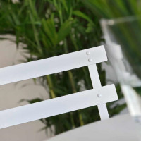 ALESSIA Blanc 1 Chaise de Bistro Aluminium