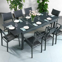 Table FLORENCE - Gris (ensemble 8 personnes)