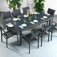 Table FLORENCE - Gris (ensemble 8 personnes)