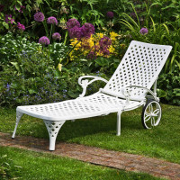 Chaise Longue AMBER - Blanc