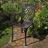 ROSE chaise de jardin en aluminium