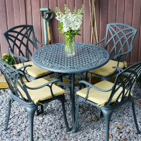 Table HANNAH - Gris Ardoise (ensemble 4 personnes)