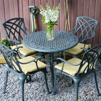 Table HANNAH - Gris Ardoise (ensemble 4 personnes)