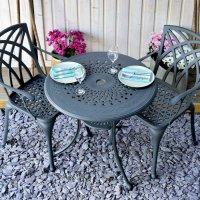 Table ANNA - Gris Ardoise (ensemble 2 personnes)