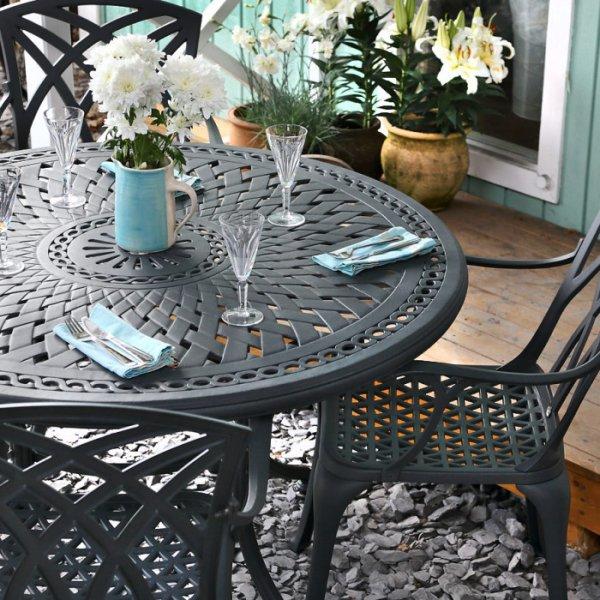 Table ALICE - Gris Ardoise (ensemble 6 personnes)