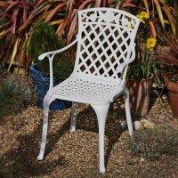 ROSE chaise de jardin - Blanc