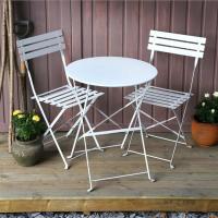 Ensemble bistrot ALESSIA (Table et 2 chaises) - Blanc