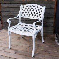 KATE fauteuil de jardin - Blanc