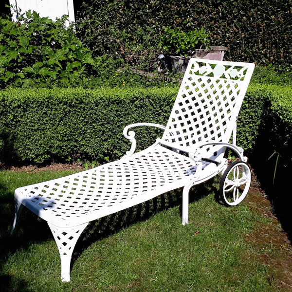 Chaise Longue Rose - Blanc