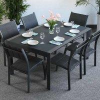 Table JANINE - Gris (ensemble 6 personnes)