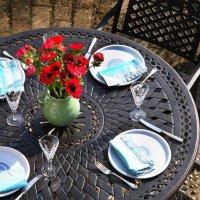 Table ALICE - Bronze Ancien (ensemble 6 personnes)