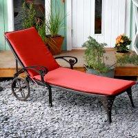 Coussin de chaise longue LATTICE - Terre Cuite