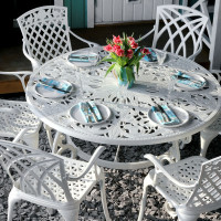 Joyce Table - White (6 seater set)