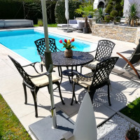 Table MIA - Bronze Ancien (ensemble 4 personnes)