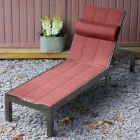 Chaise longue MICHELLE - Bronze Ancien & Terre Cuite