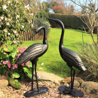 Crane Pair - Bronze Ancien