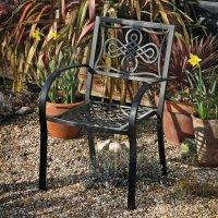 MARIA chaise de jardin en aluminium