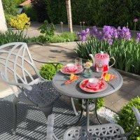 Table bistro ELLA - Gris Ardoise (ensemble 2 personnes)