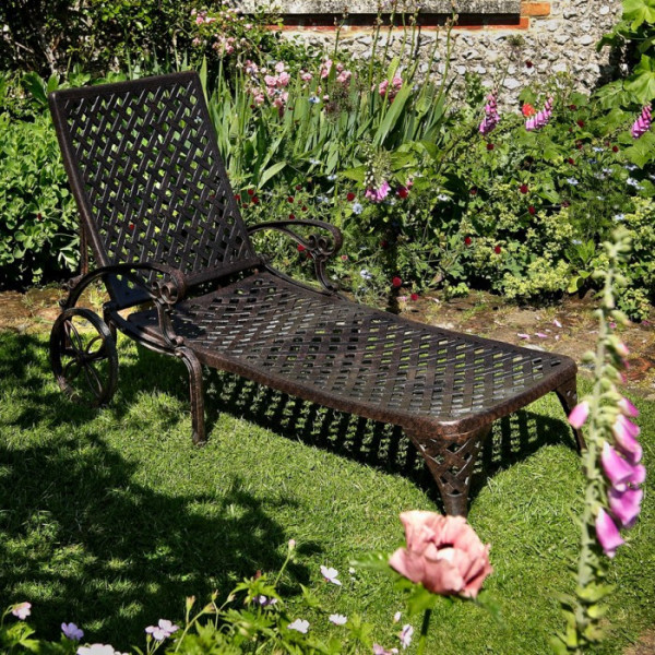 Chaise Longue AMBER - Bronze Ancien