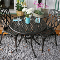 Table HANNAH - Bronze Ancien (ensemble 2 personnes)