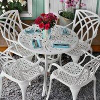 Table JILL - Blanc (ensemble 4 personnes)