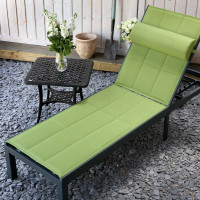 Chaise longue MICHELLE - Gris & Vert