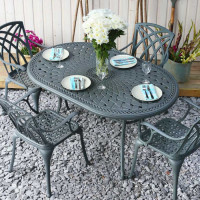 Table JUNE - Gris Ardoise (ensemble 4 personnes)
