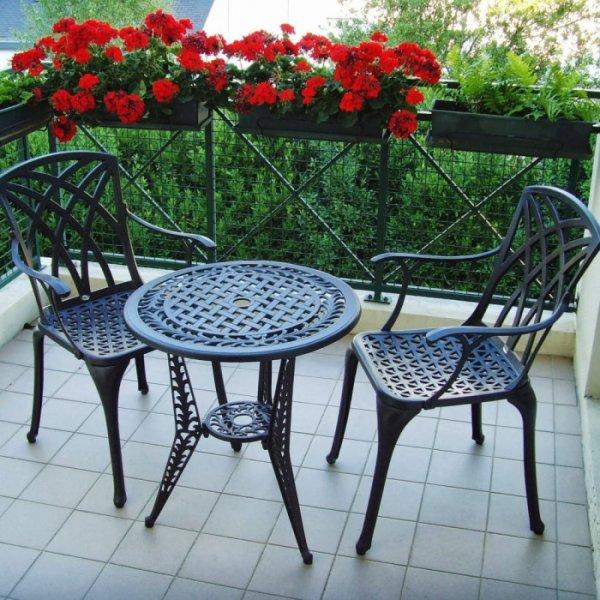 Table bistro IVY - Bronze Ancien (ensemble 2 personnes)
