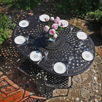 Table ROSEMARY - Bronze Ancien (ensemble 8 personnes)