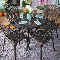 Table JILL - Bronze Ancien (ensemble 4 personnes)