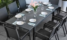 Table Virginia 8 places gris