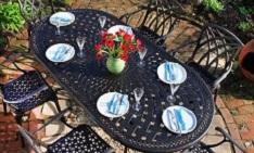 salon de jardin en métal 6 personnes bonnes affaires